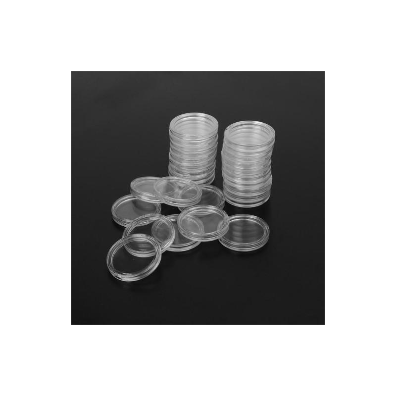 Kapsel ochronny do srebrnych monet uncjowych o średnicy 39 mm