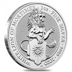 Bestie Królowej: Biały Lew 2020 - 2 uncje - srebrna moneta bulionowa