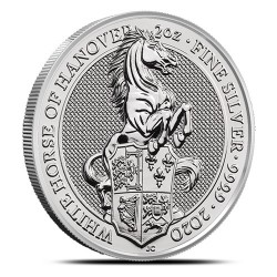 Bestie Królowej: Biały Koń 2020 - 2 uncje - srebrna moneta bulionowa