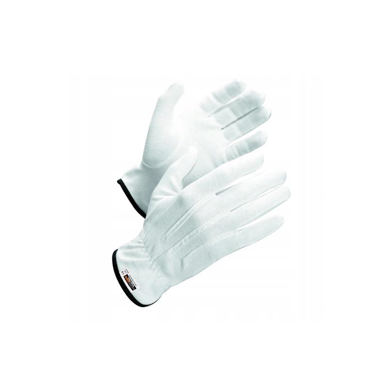 Dzięki bawełnianym rękawiczkom można bezpiecznie dotykać monet i nie obawiać się, że się zabrudzą. Cena dotyczy pary rękawiczek.