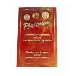 Impregnowana tkanina delikatnie czyści srebrne monety nadając im naturalny połysk.