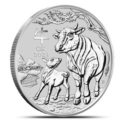 Lunar III: Rok Bawoła 2021 - 1 uncja - srebrna moneta bulionowa