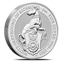 Bestie Królowej: Biały Chart z Richmond 2021 - 2 uncje - srebrna moneta bulionowa