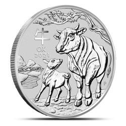 Lunar III: Rok Bawoła 2021 - 2 uncje - srebrna moneta bulionowa