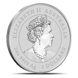 2-uncjowa moneta Rok Bawoła wydana w Australii w 2021 roku. Monety w stanie menniczym.