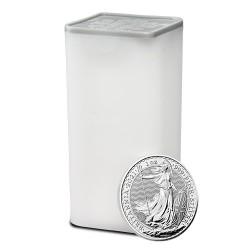 1-uncjowa moneta Britannia wydana w Wielkiej Brytanii w 2021 roku. Monety w stanie menniczym.