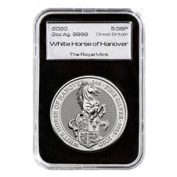 2-uncjowa moneta White Horse of Hanover wydana w Wielkiej Brytanii w 2020 roku. Monety w stanie menniczym.