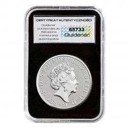 2-uncjowa moneta White Greyhound of Richmond wydana w Wielkiej Brytanii w 2021 roku. Monety w stanie menniczym.