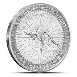Ważący ponad 3kg zestaw 4 tub zawierający łącznie 100 1-uncjowych monet o nominale 1$ KANGAROO wydanych w Australii w 2021 roku. Monety w stanie menniczym.