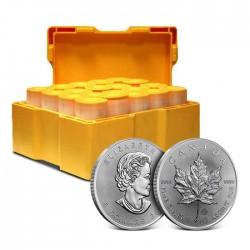 Kanadyjski Liść Klonu 2021 - 500 uncji srebra masterbox