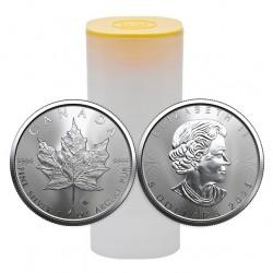 Kanadyjski Liść Klonu 2021 - tuba 25 uncji srebra - najtaniej