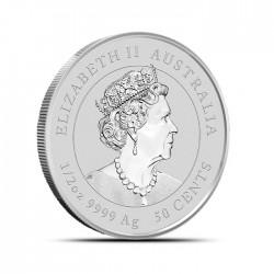 1/2-uncjowa moneta Rok Myszy wydana w Australii w 2020 roku. Monety w stanie menniczym.