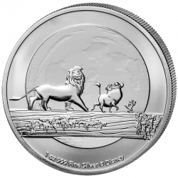 Disney: Król Lew 2021 - 1 uncja - srebrna moneta bulionowa