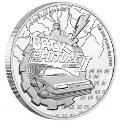 1-uncjowa moneta Back to the Future II wydana na wyspach Niue w 2021 roku. Monety w stanie menniczym.