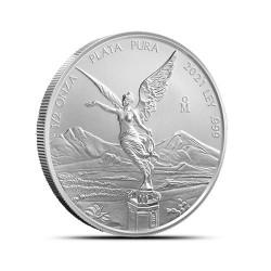 0,5 - uncjowa moneta Mexican Libertad wydana przez Mexican Mint w 2021 roku. Monety w stanie menniczym wysyłane w woreczku strunowym.