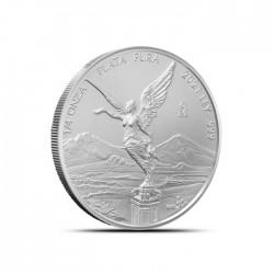0,25 - uncjowa moneta Mexican Libertad wydana przez Mexican Mint w 2021 roku. Monety w stanie menniczym wysyłane w woreczku strunowym.