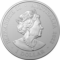1-uncjowa moneta o nominale 1$ Skorpion wydana w Australii w 2022 roku w limitowanym nakładzie 25.000 sztuk Monety w stanie menniczym.